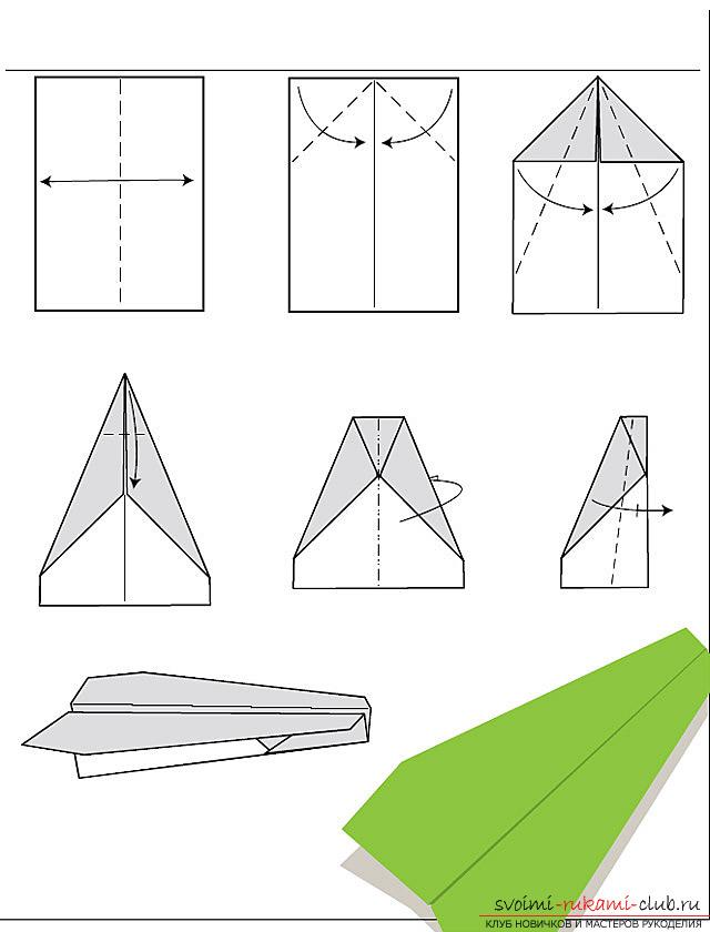 Как сделать самолеты оригами