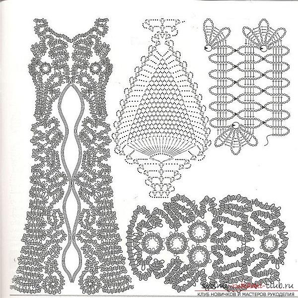 Схемы вязания брюгского кружева