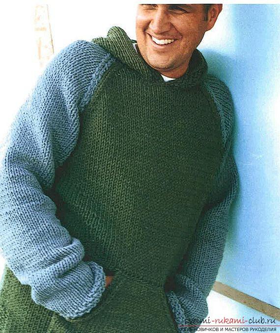 схемы вязания мужских свитеров спицами фото 2017 22 фотографий