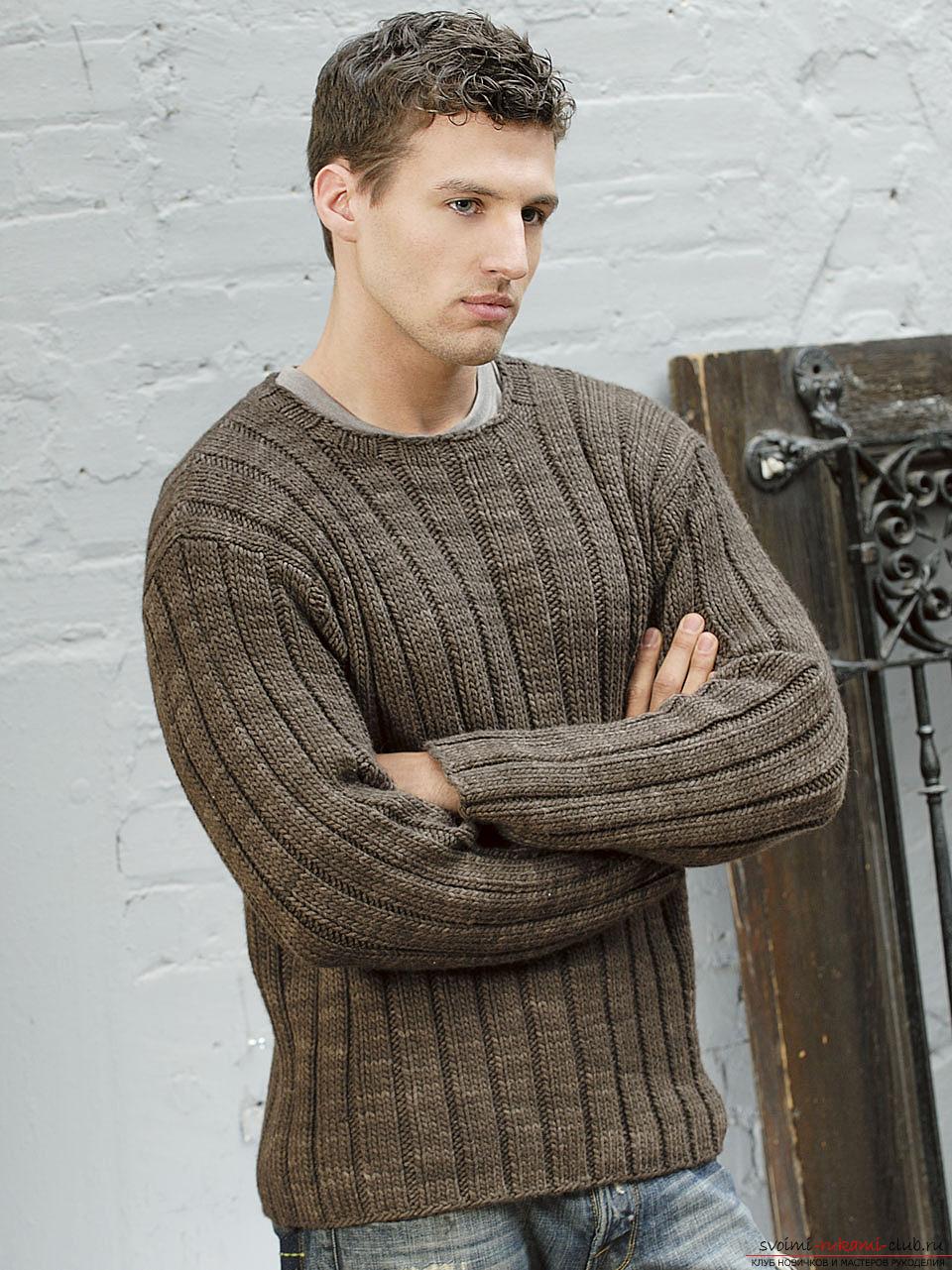 Современные мужские модели по вязанию