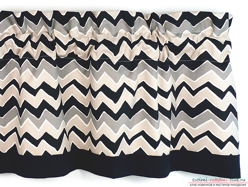 Curtains chevron pattern