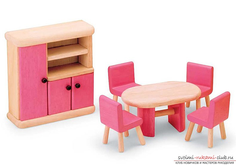 Плетёная мебель для кукол