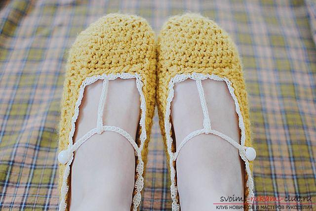 Схемы вязания обуви детям