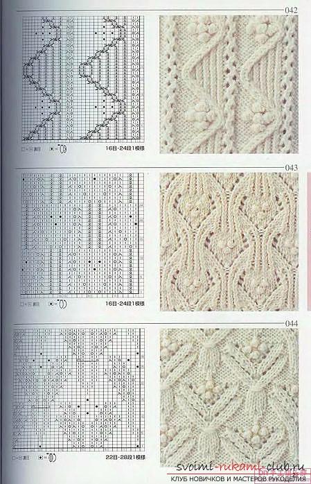Шапка крупными спицами схема вязания