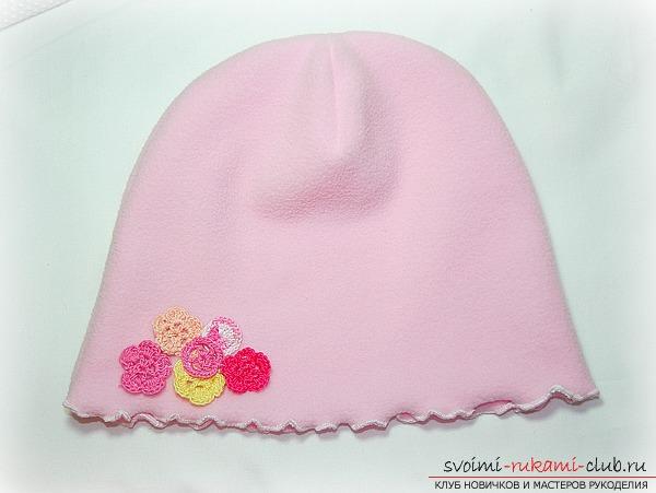 Выкройка шапочки на ребенка 3 месяца - cb6f8