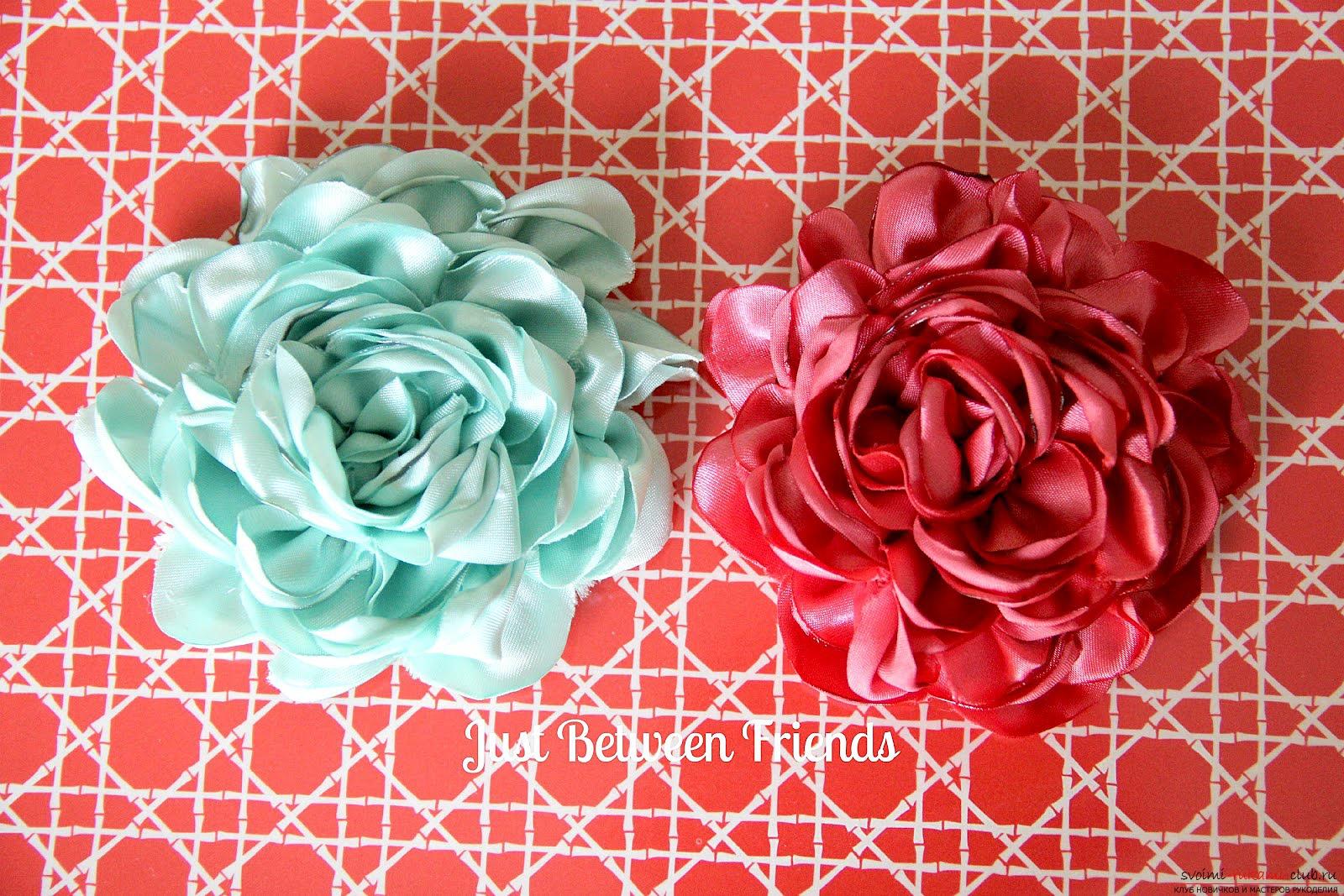 Сделать цветок из ткани своими руками на платье