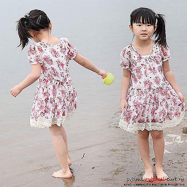 Красивейшее платье для девочки своими руками