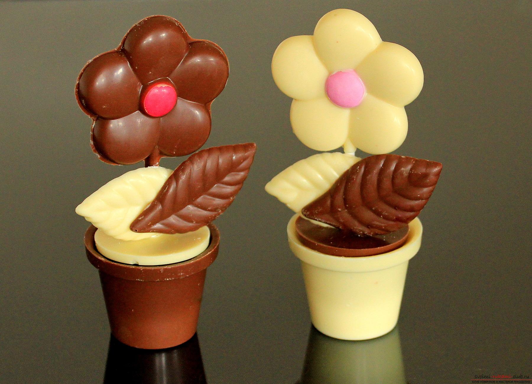 Как сделать шоколадный цветки
