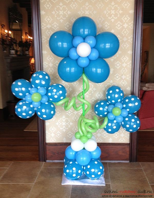 Цветы в воздушном шаре своими руками