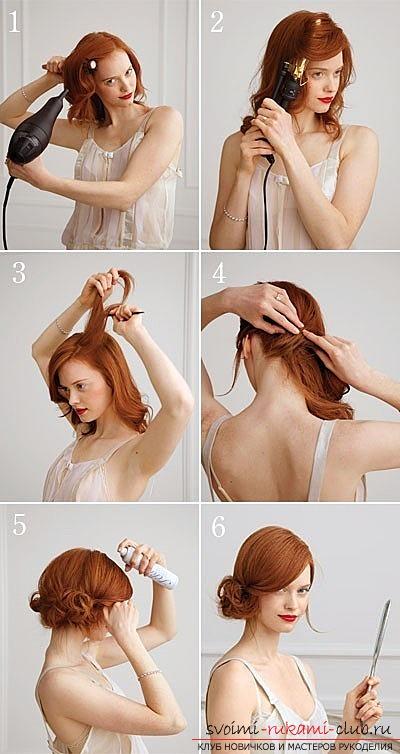 прическу на средние волосы