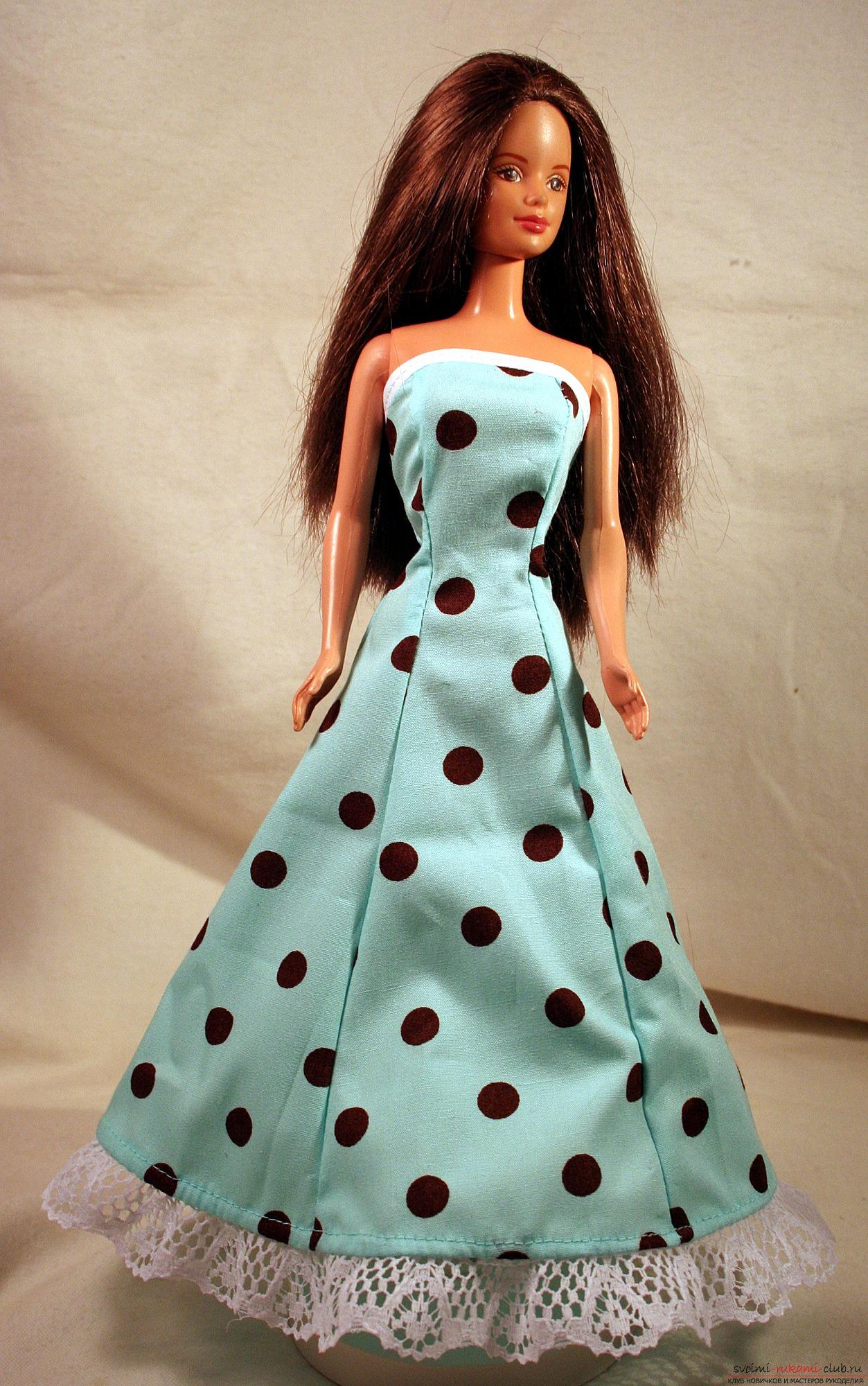 Платье для барби своими руками фото