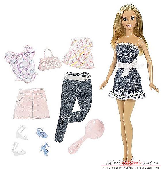 Как сшить одежду куклы барби