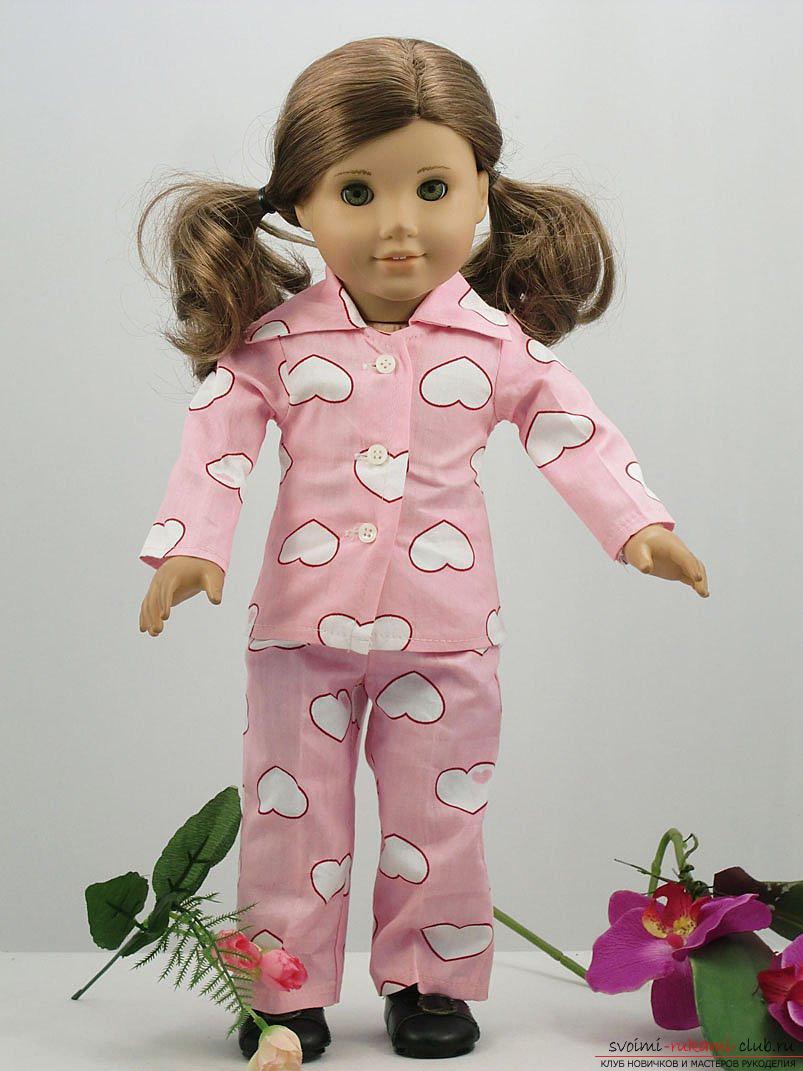 Пижама для куклы своими руками 29
