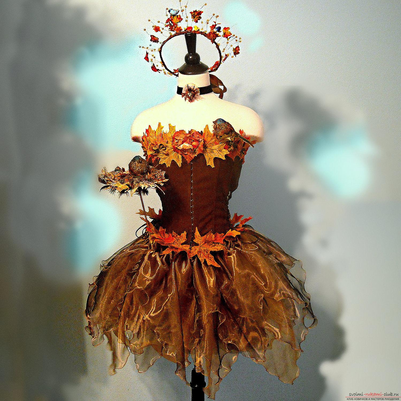 Платье из листьев своим руками