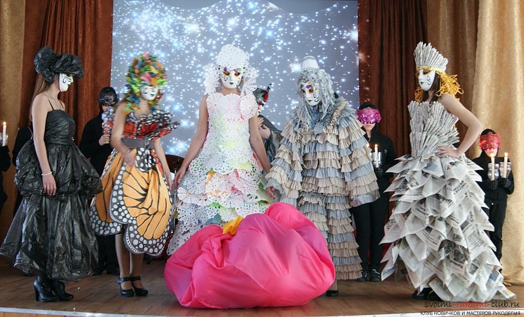 Платье из мусора своими руками на конкурс 70