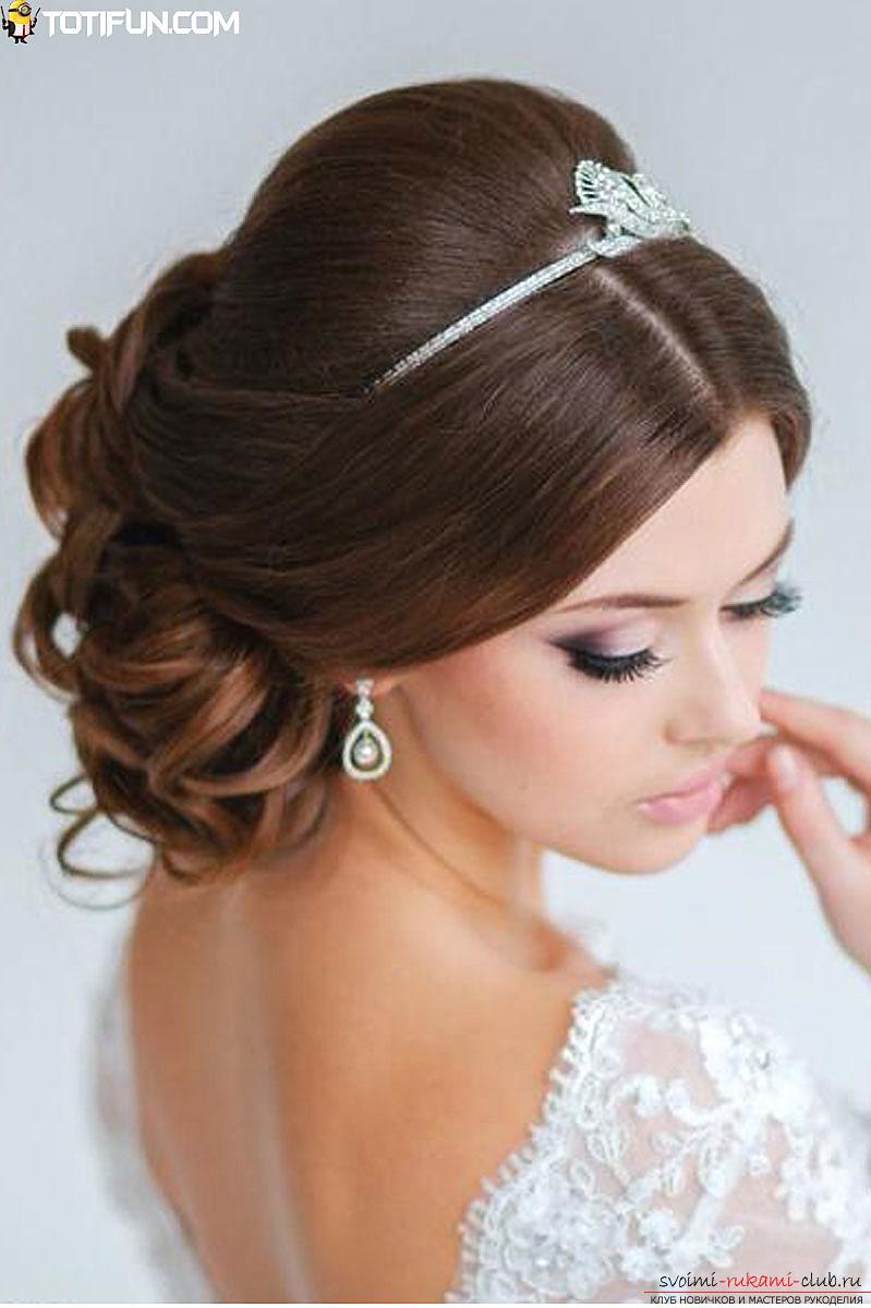 Нежные прически на свадьбу