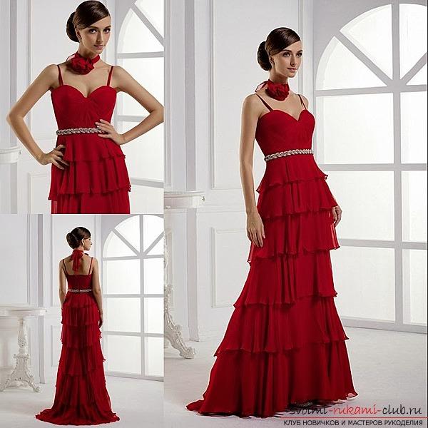 По мнению ведущих модельеров, вечерние платья с декольте и асимметричным вырезом по-прежнему модны. По своей длине вечернее платье должно быть до колен