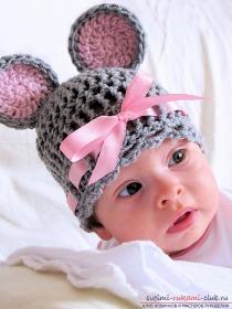 Вязание чепчика для новорож