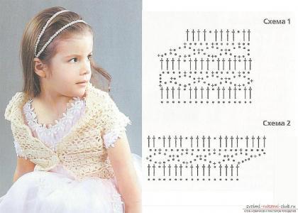 Вязание болеро для девочки 4 лет 360
