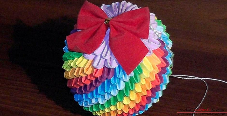 Новогодние игрушки из бисера пошаговое фото
