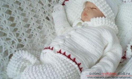 Жилетка для новорожденного спицами схема