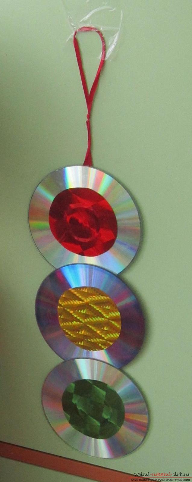 Поделка из дисков своими руками для детского сада