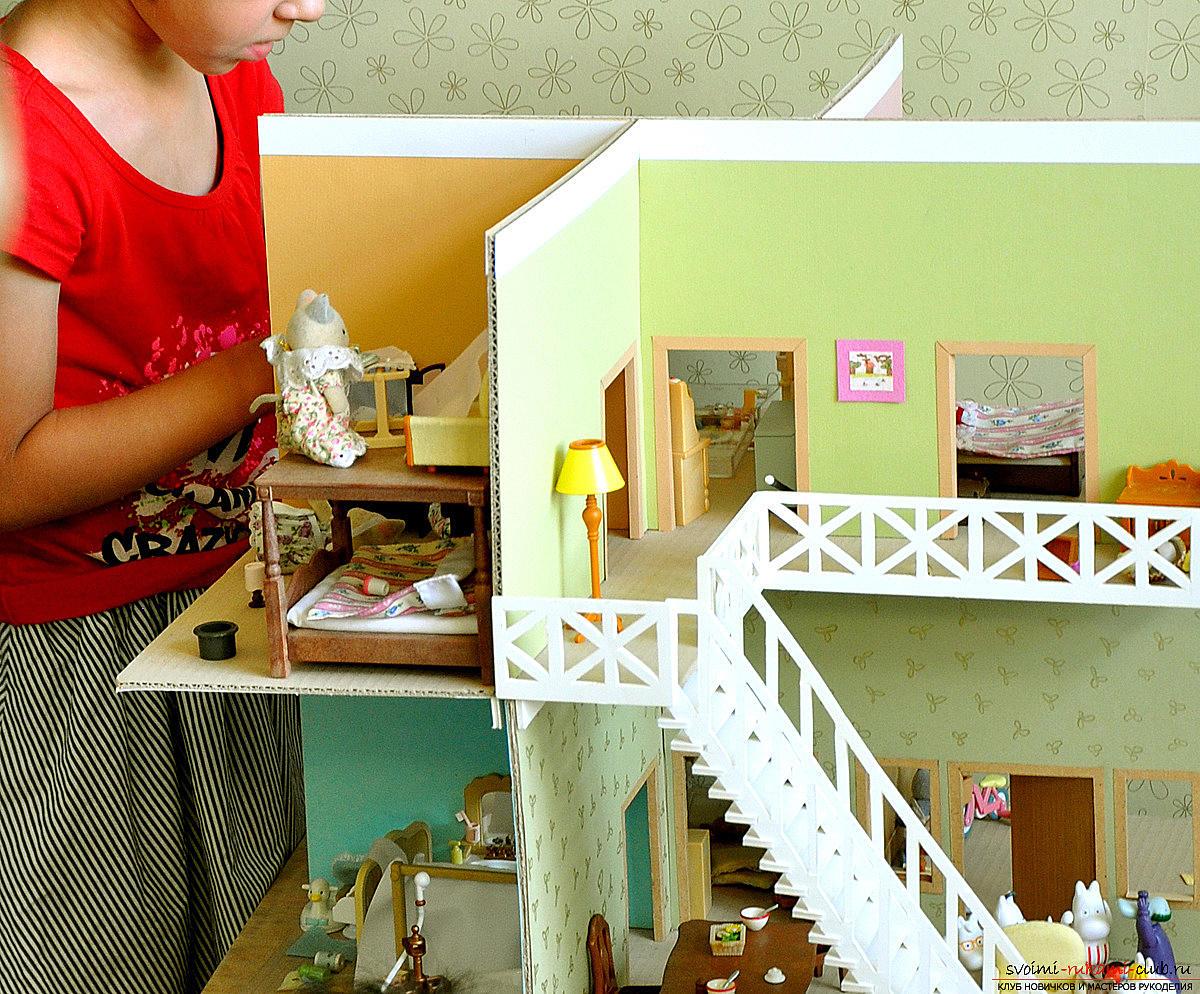 Игрушечный домик своими руками фото
