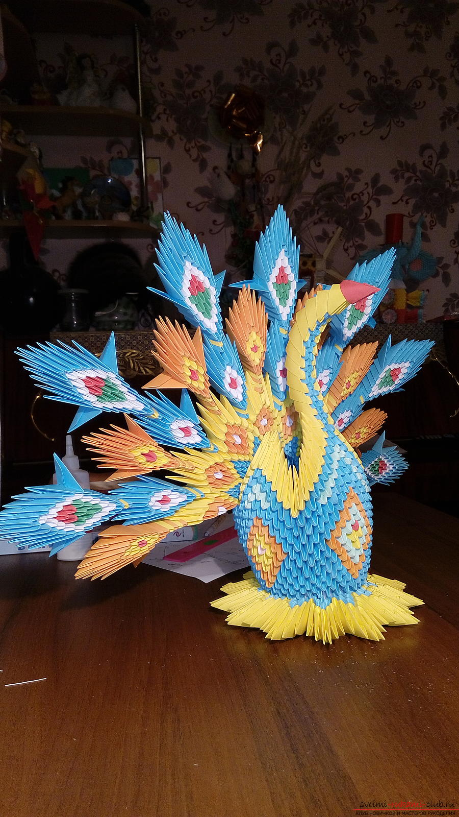 Как сделать оригами павлин