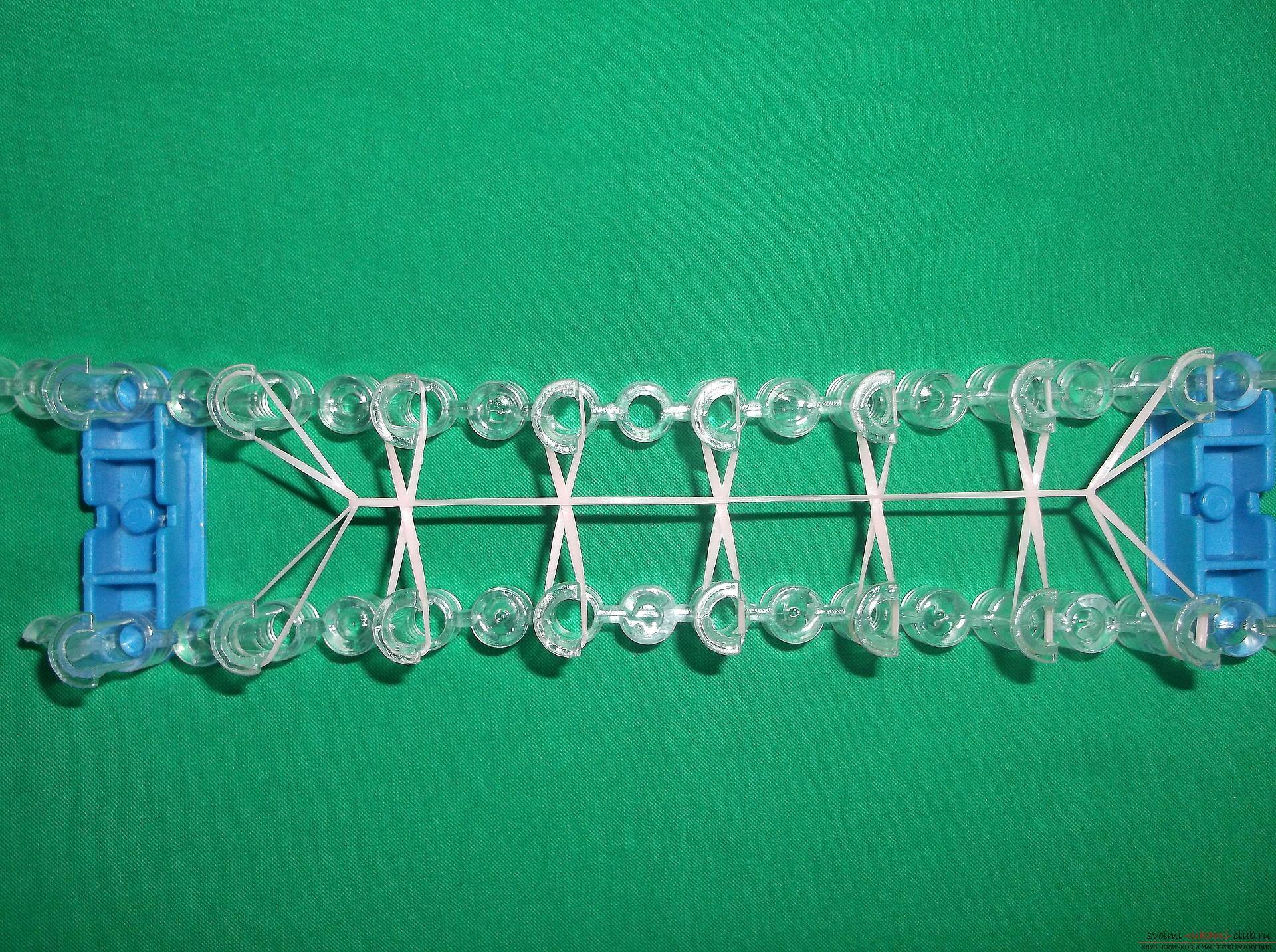 Фото к уроку по плетению браслета с надписью