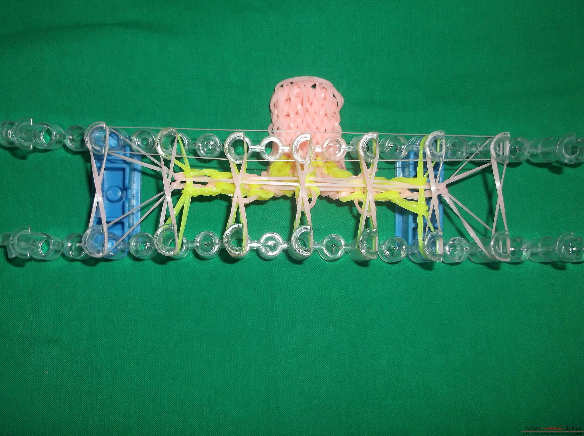 Как сплести браслет из резиночек с надписью 2016? Урок по плетению браслета с пошаговыми рекомендациями и фото