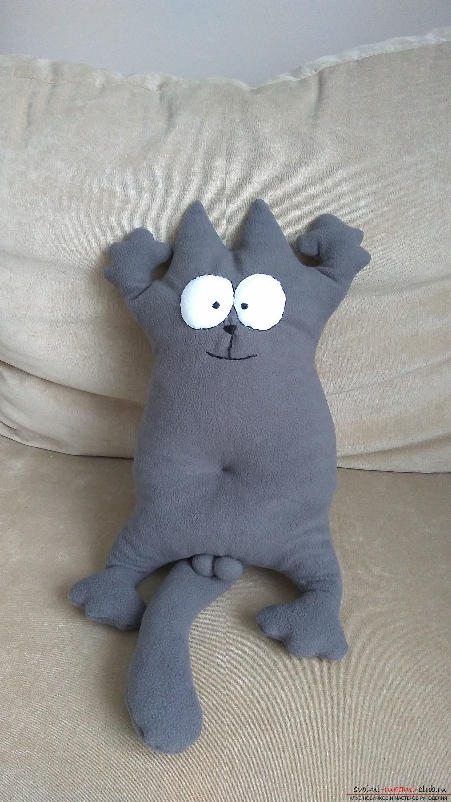 Подушка-игрушка кот Саймон своими руками - ibeds
