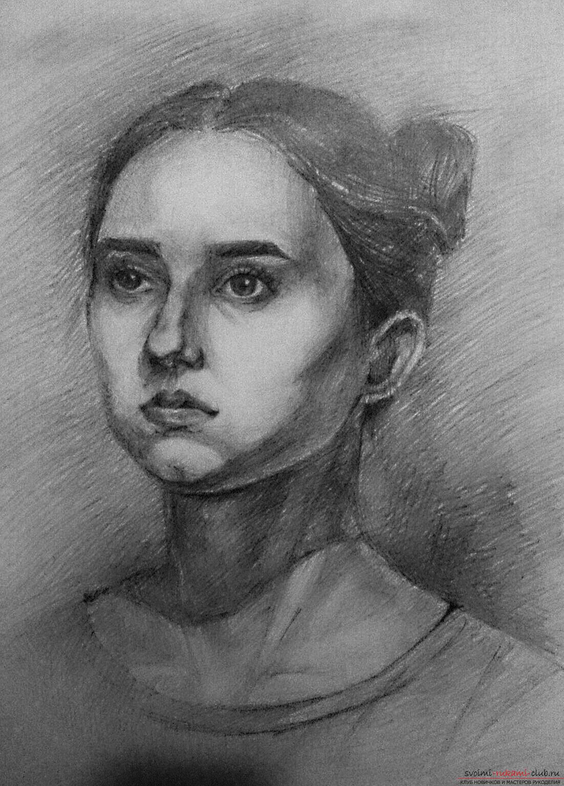Портрет карандашом мастер класс