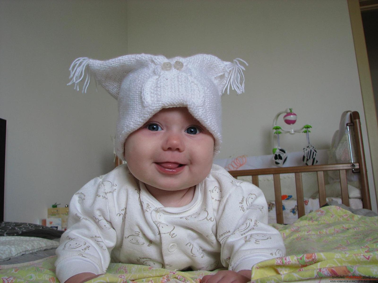 Вязание пинеток для новорожденных 2 спицами