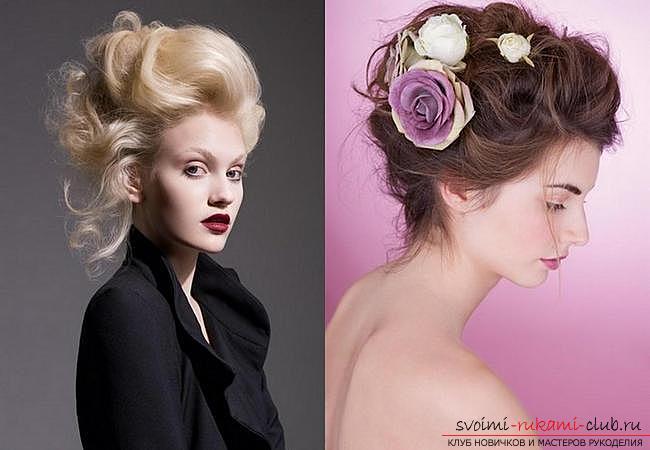 простые модные прически с цветком на негустые волосы