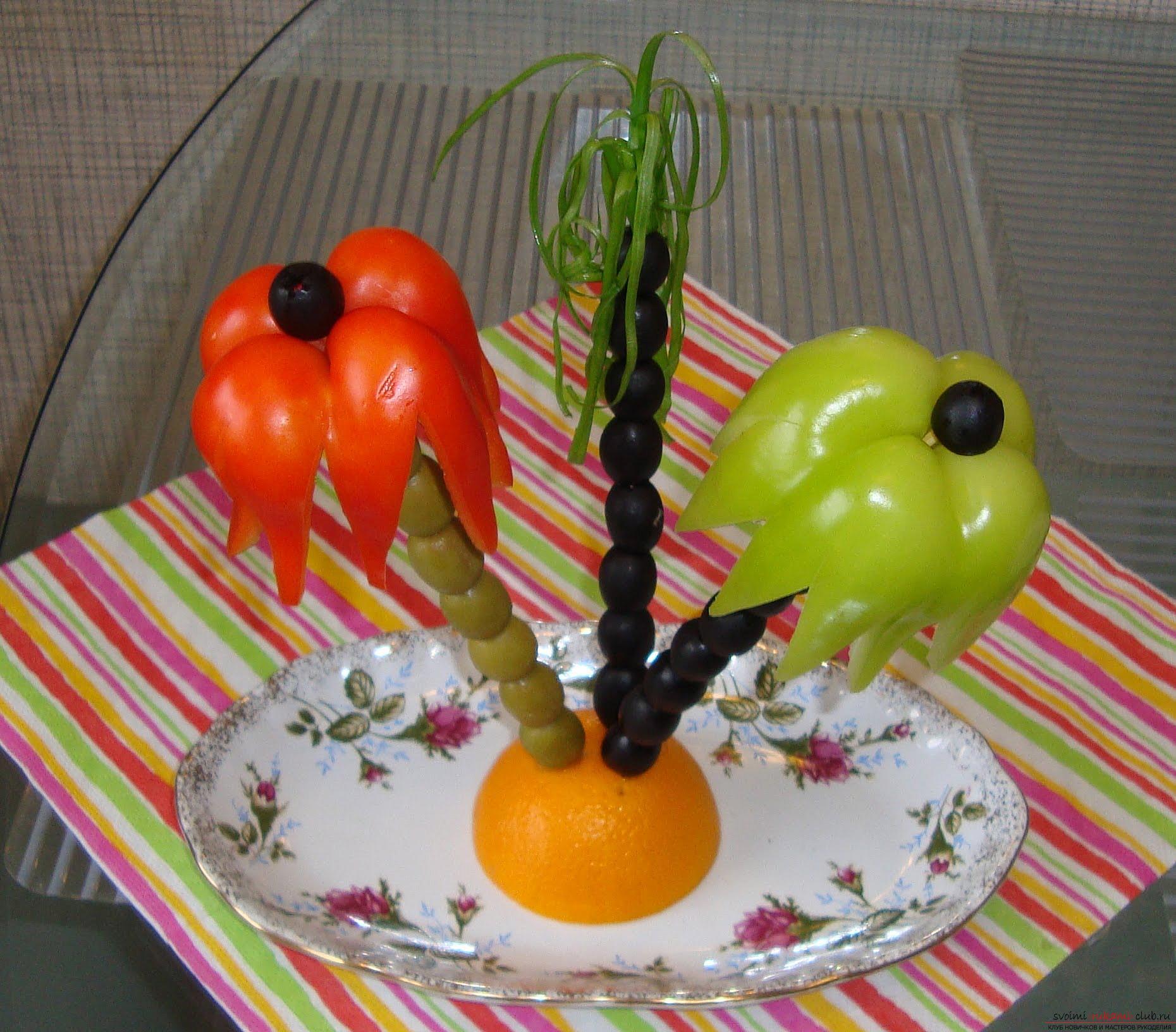 Поделки своими руками цветы из овощей и фруктов своими руками фото 210