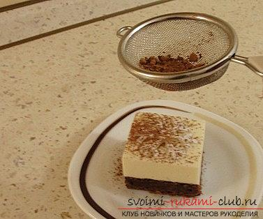 Выпечка новогоднего торта-суфле со снежинкой - выпечка своими руками