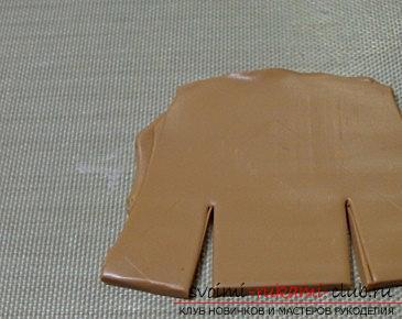 Пряничный домик из полимерной глины - новогодний мастер-класс своими руками. Фото №1