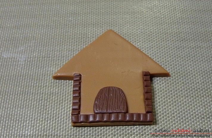 Пряничный домик из полимерной глины - новогодний мастер-класс своими руками. Фото №3