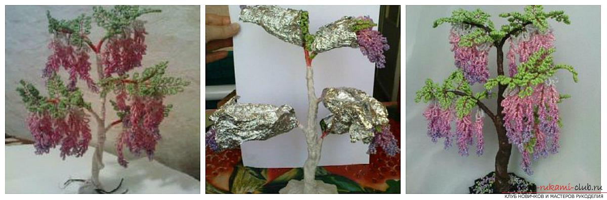 Глициния деревья из бисера своими руками 686