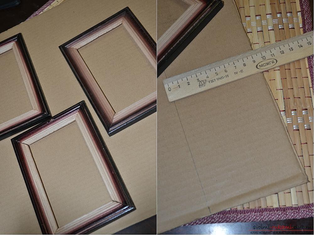 Рамка на картину из картона своими руками