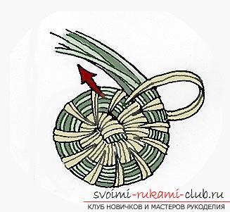 Плетение оригинальной корзины из сосновых иголок с объяснениями и поэтапными фото.. Фото №8