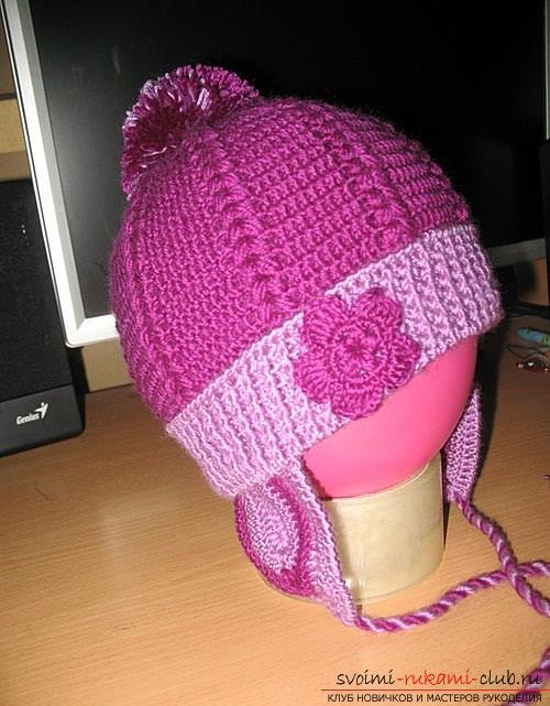 Как связать осеннюю шапочку крючком своими руками для девочек, подробные схемы, фото и описание работы. Фото №4