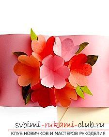 Создание открыток своими руками, открытка на день матери, розочки из бумаги своими руками, советы, рекомендации и инструкции по из созданию.. Фото №1