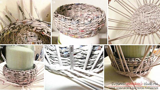 Плетение из газетных трубочек шкатулки пошагово