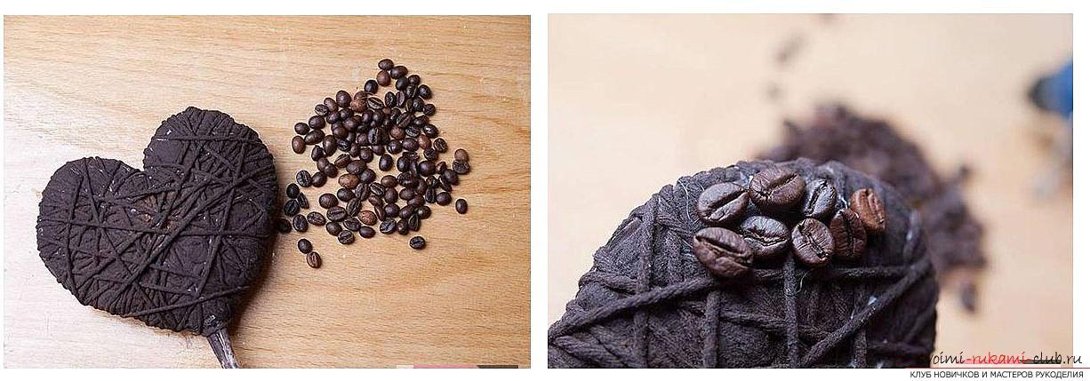 Как сделать топиарий из кофейных зерен своими руками, пошаговые фото, подробная инструкция, советы и рекомендации по созданию кофейных деревьев различной формы. Фото №10