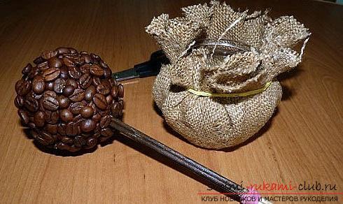 Как сделать топиарий из кофейных зерен своими руками, пошаговые фото, подробная инструкция, советы и рекомендации по созданию кофейных деревьев различной формы. Фото №4