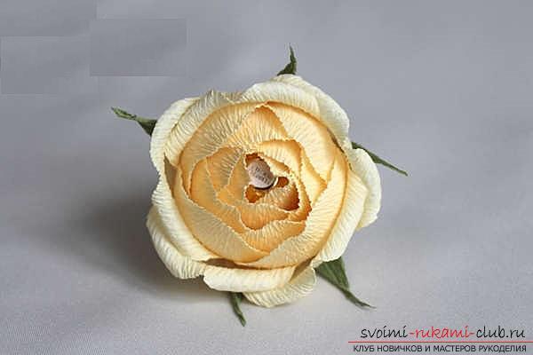 Как сделать конфетный букет из роз, пошаговые фото и инструкция создания роз из гофрированной бумаги с сердцевинками из конфет. Фото №12