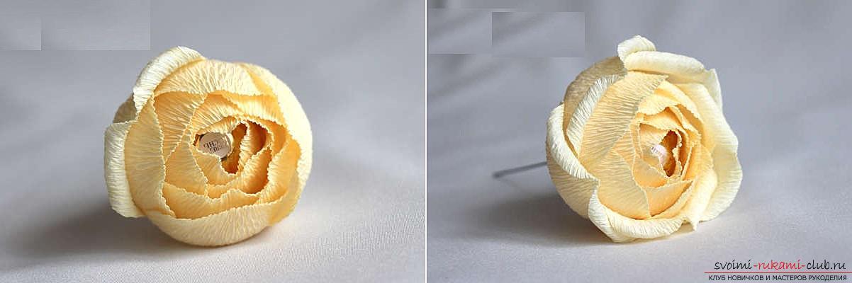 Как сделать конфетный букет из роз, пошаговые фото и инструкция создания роз из гофрированной бумаги с сердцевинками из конфет. Фото №16