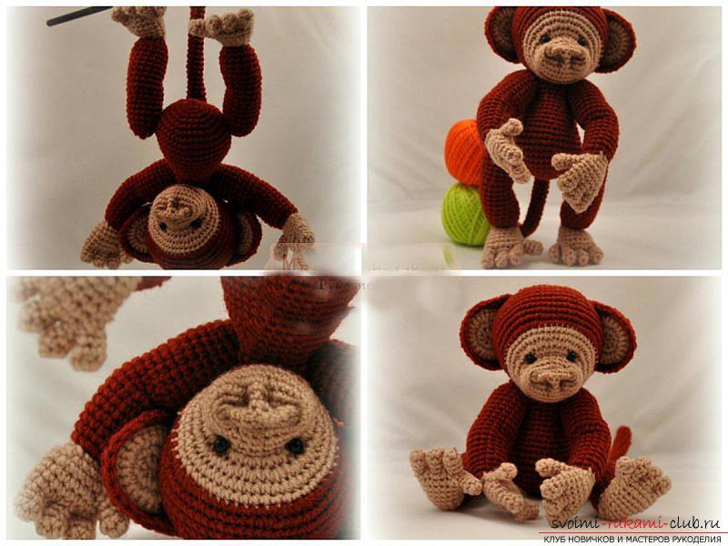 Мастер-класс по вязанию обезьянки амигуруми крючком своими руками для начинающих с пошаговым описанием и фото