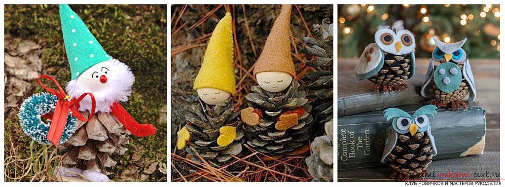 Шишки-ёлочки своими руками: новые способы оформления новогодней ёлочки и дома